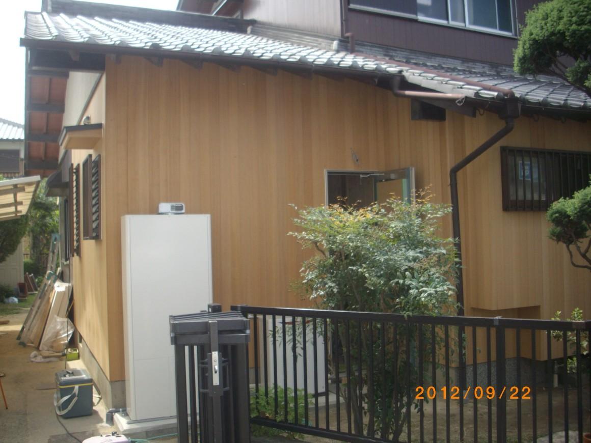 外壁の板壁