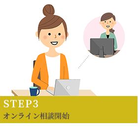 STEP3 オンライン相談開始