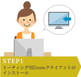 STEP1 ミーティング用Zoomクライアントのインストール