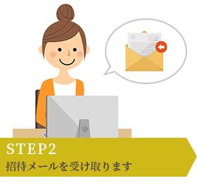 STEP2 招待メールを受け取ります