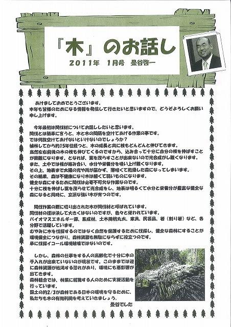 「木」のお話し 11.1月号